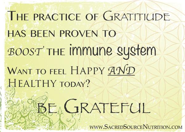 Gratitude is Healthy